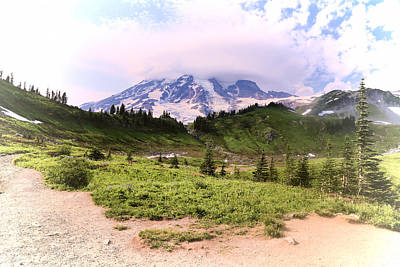 Photograph - Scenic Mt. Rainier  by Athena Mckinzie