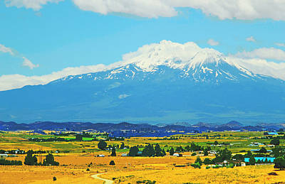 Scenic Mt Shasta California Print by Donna Haggerty