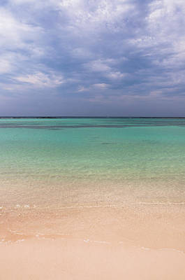 Antilles Photograph - Scenic Of Water And Beach, Baby Beach by Alberto Biscaro