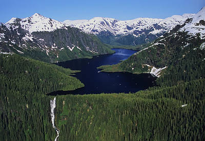 Scenic View Of Big Goat Lake, Misty Art Print