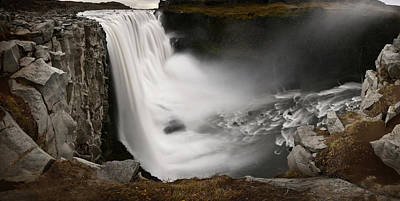 Dettifoss Photograph - Scenic View Of Dettifoss Waterfall by Raul Touzon