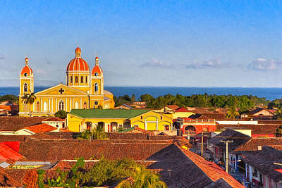 Photograph - Scenic View Of Lake Nicaragua - Granada by Mark E Tisdale