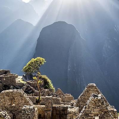 Scenic View Of Machu Picchu Art Print by Diego Cambiaso / Eyeem