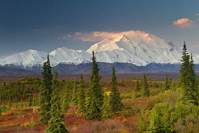 Northside Photograph - Scenic View Of Mt. Mckinley At Sunrise by Lynn Wegener