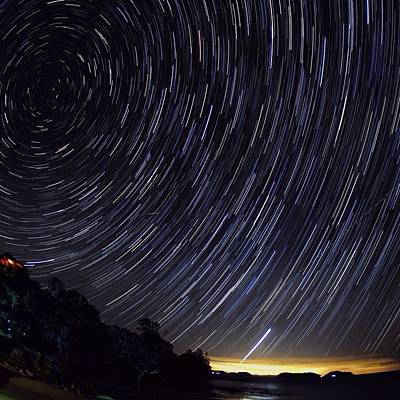 Scenic View Of Night Sky Art Print by Brent Purcell / Eyeem