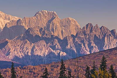 Scenic View Of Sunrise On Mooses Tooth Print by Kevin Smith