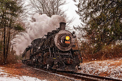 Scenic View Of The Essex Steam Train Art Print