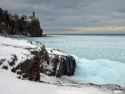 Scenic Winter Lighthouse Original by James Peterson