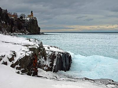 Scenic Winter Lighthouse Original