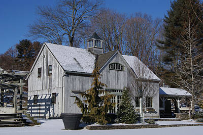 Photograph - Scenic Winter Shed by Margie Avellino