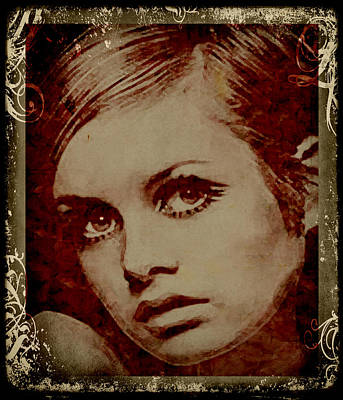 Twiggy Digital Art - Scent Of A Woman by Marie  Gale