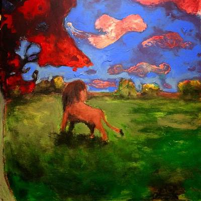 Painting - Scent Of The Herd by Dilip Sheth