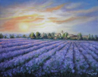 Painting - Scented Field by Vesna Martinjak