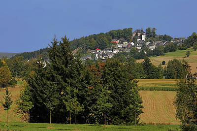 Schauenstein - A Typical Upper-franconian Town Art Print by Christine Till