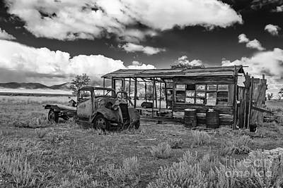 Photograph - Schellbourne Station And Old Truck by Robert Bales