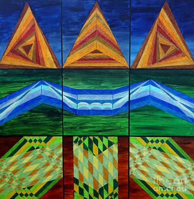 Geometrics Painting - Schema Realized by Pane Reframed