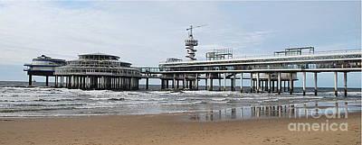 Scheveningen Pier Photograph - Scheveningen Beach And Pier 2  by Kenneth Williams