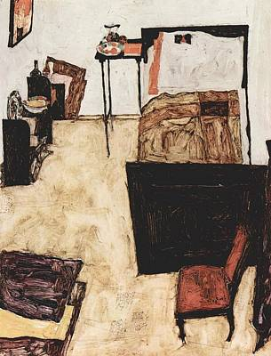 Painting - Schiele's Room In Neulengbach by Celestial Images