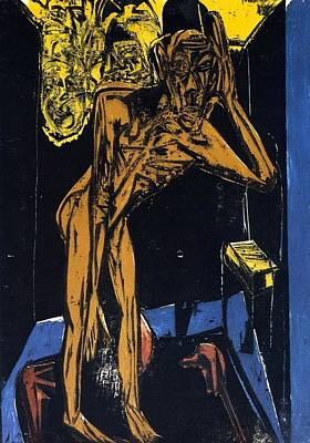 Berlin Germany Painting - Schlemihls In The Loneliness Of The Room by Ernst Ludwig Kirchner