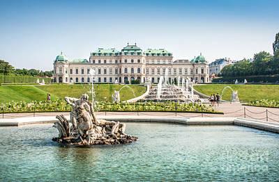 Vienna Photograph - Schloss Belvedere In Vienna by JR Photography