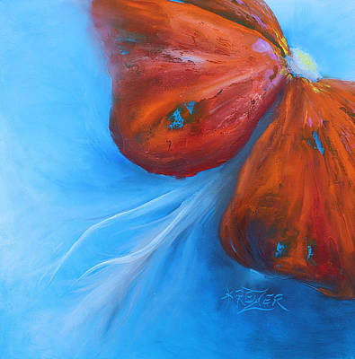 Schmetterlingsblume Art Print by Karen  Kreuzer