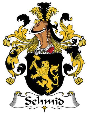 Schmid Coat Of Arms German Art Print