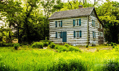 Photograph - Schmidt-burnham Log Cabin Crow Island Woods Winnetka Illinois by Deborah Smolinske