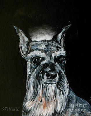Painting - Schnauzer Angel by Jay  Schmetz