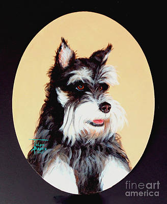 Painting - Schnauzer by Art By - Ti   Tolpo Bader