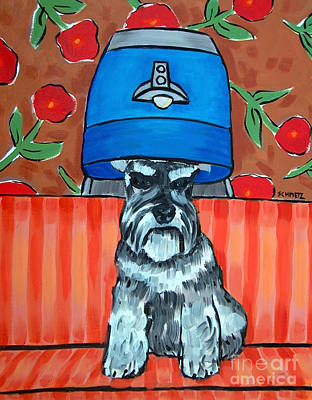 Painting - Schnauzer At The Salon by Jay  Schmetz