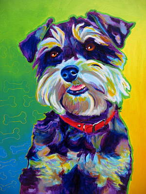 Dawgart Painting - Schnauzer - Charly by Alicia VanNoy Call