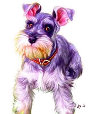 Schnauzer Puppy Painting - Schnauzer Dog Art by Iain McDonald