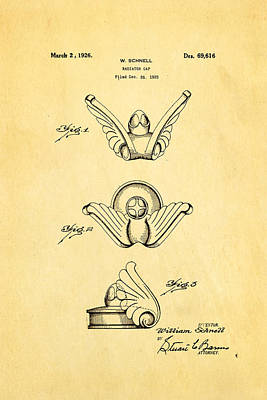Photograph - Schnell Radiator Cap Patent Art 1926 by Ian Monk