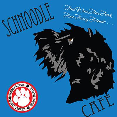 Fuzzy Digital Art - Schnoodle Cafe by Bob Veon