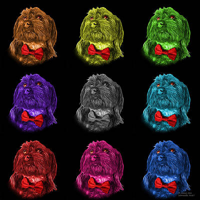 Painting - Schnoodle Pop Art 3687 - Bb - M by James Ahn