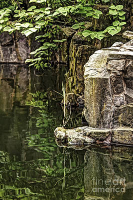 Print featuring the photograph Scholar Garden Reflections by Vicki DeVico