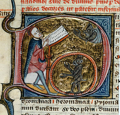 Cartography Photograph - Scholar With Devils by British Library