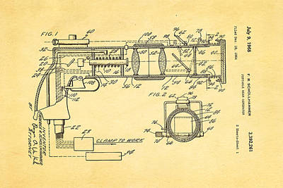 Photograph - Schollhammer Electron Beam Gun Patent Art 1968 by Ian Monk