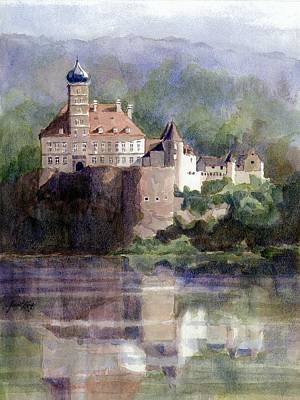 Painting - Schonbuhel Castle In Austria by Janet King