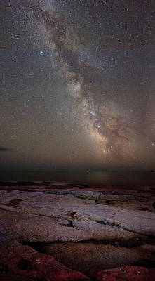 Photograph - Schoodic Point Milky Way 6149 by Brent L Ander