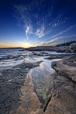 Schoodic Sunset Art Print by Rick Berk