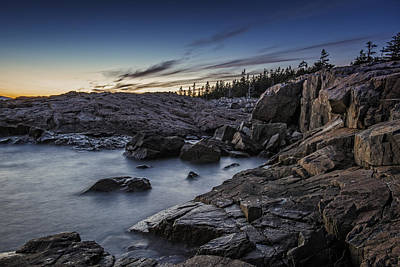 Schoodic Twilight Art Print by Rick Berk