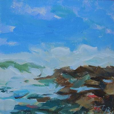 Painting - Schoodic Waves I by Francine Frank
