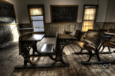 Bannack Ghost Town Photograph - Historic School Bannack Montana 1 by Bob Christopher