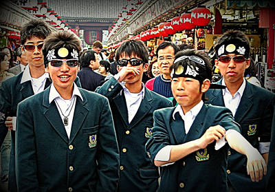 Photograph - School Boys Tokyo by John Potts