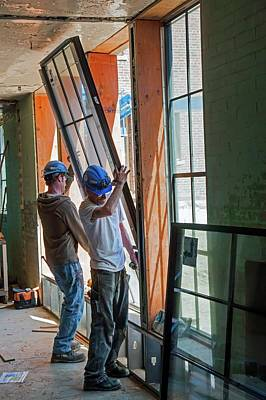Building Trades Photograph - School Building Renovation by Jim West