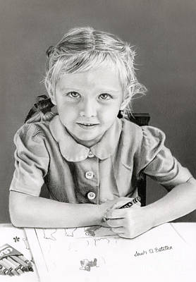 Art For Children Drawing - School Days 1948 by Sarah Batalka