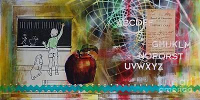 Report Mixed Media - School Days by Brooke Adamson