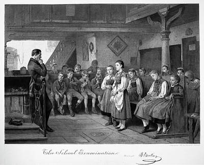 Schoolboy Painting - School Examination, 1881 by Granger