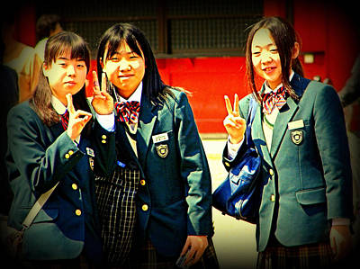 Photograph - School Girls Tokyo by John Potts